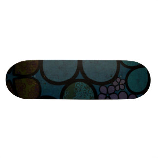 Multicolored Modern Textured Floral Skateboard
