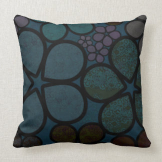 Multicolored, Modern, Textured Floral Throw Pillow