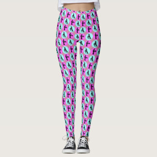 multicolored motive for dance leggings
