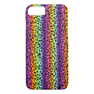 Multicolored neon cheetah iPhone 8/7 case
