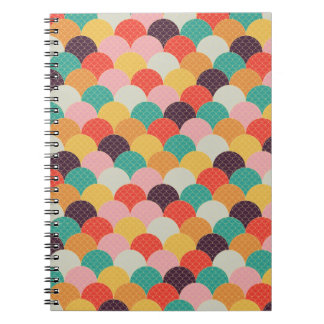 multicolored note-waves notebook