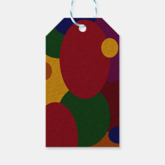 Multicolored Oval & Circles on Gift Tag