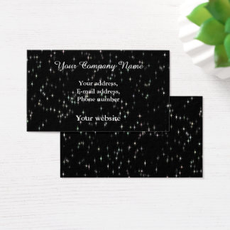 Multicolored pastel stars / black background business card