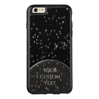 Multicolored pastel stars / black background OtterBox iPhone 6/6s plus case