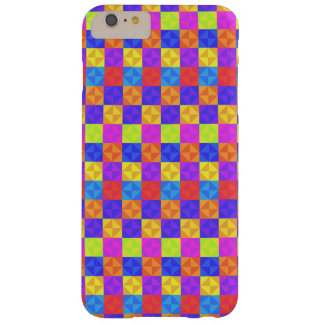 Multicolored Patchwork Squares - Bold and Bright Barely There iPhone 6 Plus Case