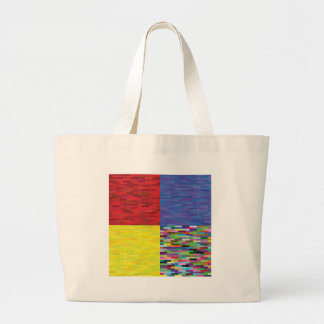multicolored Pattern Large Tote Bag