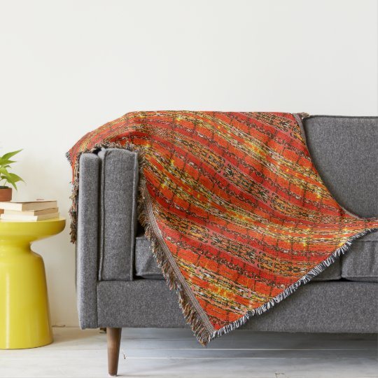 Multicolored pattern throw blanket