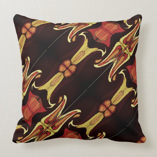 Multicolored pattern throw pillow