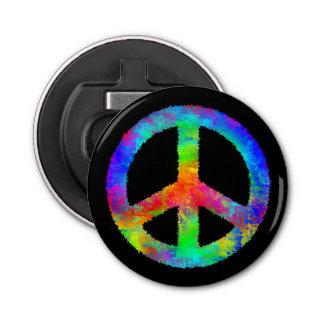 Multicolored Peace Sign Bottle Opener
