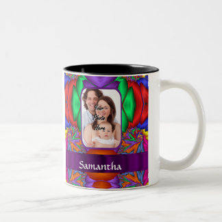 Multicolored personalized fractal Two-Tone coffee mug