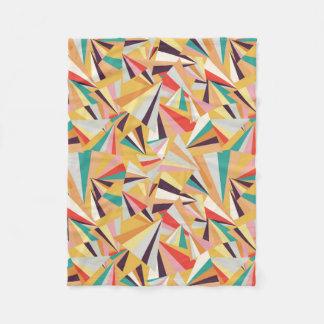 multicolored pieces of broken glass on covers fleece blanket