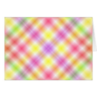 Multicolored Plaid Background Greeting Card