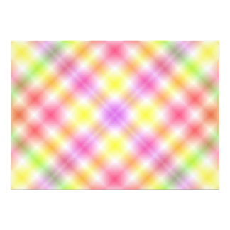 Multicolored Plaid Background Announcement
