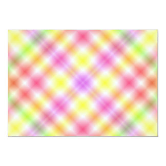 Multicolored Plaid Background Announcement