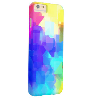 MultiColored Playful Abstract Textures Barely There iPhone 6 Plus Case