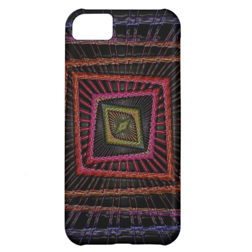 Multicolored psychedelic squares iPhone 5C case