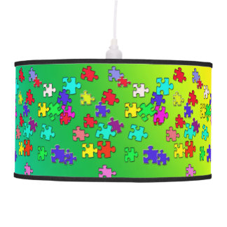 Multicolored puzzles customized ceiling lamp