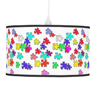 Multicolored puzzles customized pendant lamps