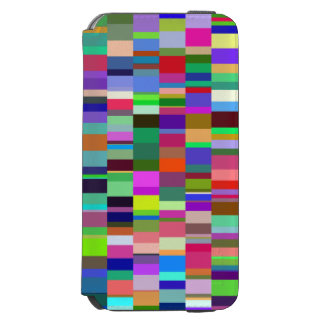 Multicolored Rectangles Abstract Pattern Incipio Watson™ iPhone 6 Wallet Case