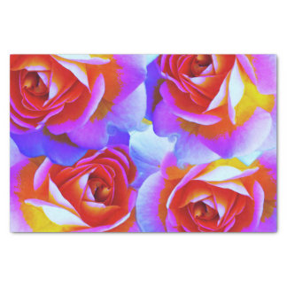 Multicolored Rose Tissue Paper