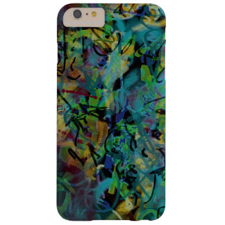 Multicolored Scribbled Abstract Art Barely There iPhone 6 Plus Case