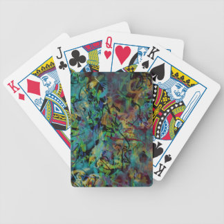 Multicolored Scribbled Abstract Art Bicycle Playing Cards