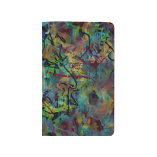 Multicolored Scribbled Abstract Art Journal