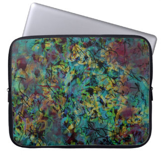 Multicolored Scribbled Abstract Art Laptop Sleeve