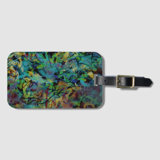 Multicolored Scribbled Abstract Art Luggage Tag