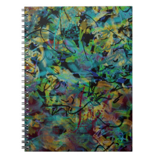 Multicolored Scribbled Abstract Art Notebooks