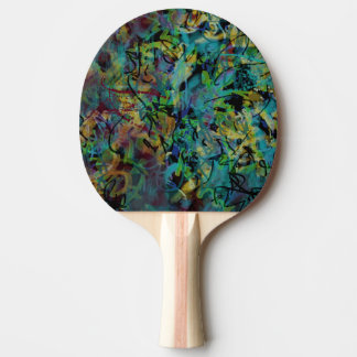 Multicolored Scribbled Abstract Art Ping Pong Paddle