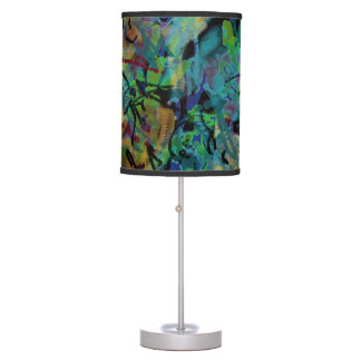 Multicolored Scribbled Abstract Art Table Lamp