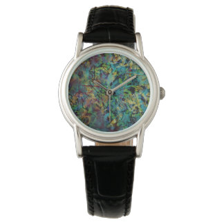 Multicolored Scribbled Abstract Art Watch
