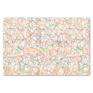 Multicolored Scribbles Tissue Paper