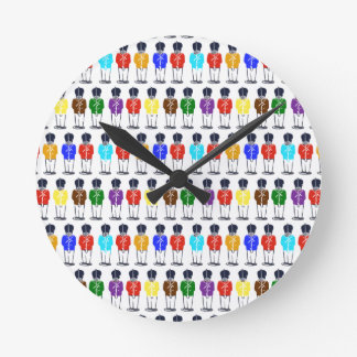 Multicolored soldiers Round Clock