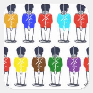 Multicoloredsoldiers Square Sticker
