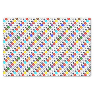 Multicolored soldiers Tissue Paper