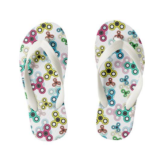 Multicolored spinners kid's flip flops