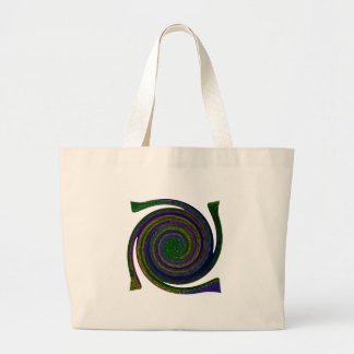 Multicolored spiral abstract art Swirl blue purple Tote Bag