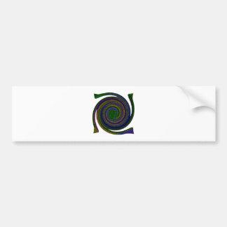 Multicolored spiral abstract art Swirl blue purple Bumper Sticker