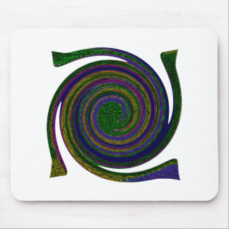 Multicolored spiral abstract art Swirl blue purple Mouse Pads