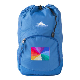 multicolored  spirals on  High Sierra Backpack