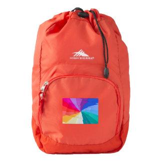 multicolored spirals on  High Sierra Backpack, Backpack