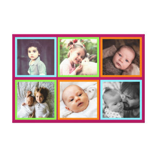 Multicolored squared pictures canvas print