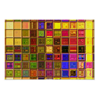 Multicolored squares poster