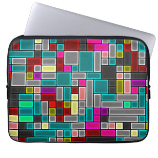 """Multicolored stained glass look 13"""" laptop sleeve"""