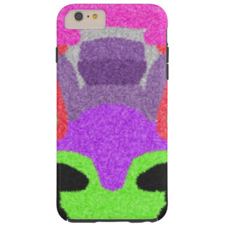 Multicolored strange pattern tough iPhone 6 plus case