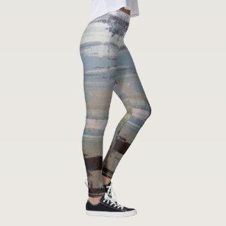 Multicolored Striped Leggings