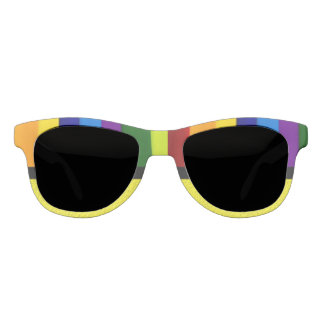 Multicolored, Striped Sunglasses