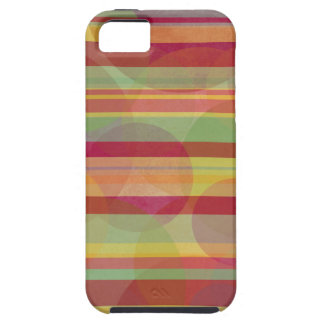 Multicolored stripes and circles iPhone 5 covers